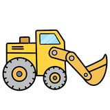 Simple cute earth mover on white background. This is cute earth mover on the white background ready to work. Simple and easy for display on any devices or Royalty Free Stock Photography