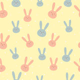 Simple cute easter pattern with rabbits Stock Images
