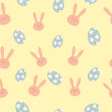 Simple cute easter pattern with rabbits Royalty Free Stock Photo