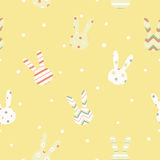 Simple cute easter pattern with rabbits. Royalty Free Stock Photography