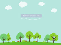 Simple and cute landscape for your design Stock Images