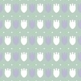 Simple pastel floral pattern for cute childish textile or scrapbooking background. Simple cute pale pastel floral pattern background for childish and female Royalty Free Stock Photography