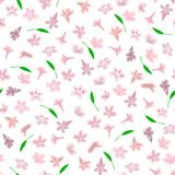Simple cute pattern in small-scale pink flowers Royalty Free Stock Photo