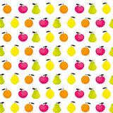 Simple cute summer fruit icon set Royalty Free Stock Photo