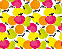 Simple cute summer fruit icon set. For labels, surface design. vector illustration for web and print design Royalty Free Stock Photos