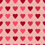 Simple and cute varicolored hearts seamless pattern. Vector illustration. Stylish Saint Valentine Day background. Simple and cute varicolored hearts seamless Stock Photo