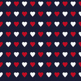 Simple and cute varicolored hearts seamless pattern. Vector illustration. Stylish Saint Valentine Day background. Stock Photography