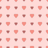 Simple and cute varicolored hearts seamless pattern. Vector illustration. Stylish Saint Valentine Day background. Royalty Free Stock Image