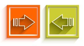 Simple 3D arrow icons Stock Photos