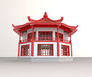 Simple 3D Chinese pavilion Stock Image