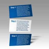 Simple 3d infographics cards Stock Image
