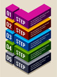 Simple 3d number options banners Stock Photos