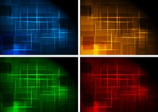 Simple dark backgrounds. Set of dark abstract backgrounds - eps 10 stock illustration
