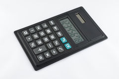 Simple black calculator Stock Photography