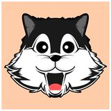 Simple dark grey siberian husky vector image