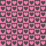 Simple dark vector heart pattern Royalty Free Stock Photos