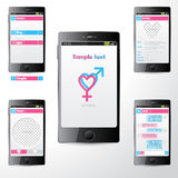 Simple dating mobile application ui Royalty Free Stock Image