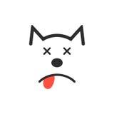 Simple dead dog icon Stock Photo