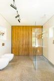 Simple decor of contemporary bathroom royalty free stock photos