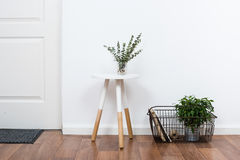 Free Simple Decor Objects, Minimalist White Interior Royalty Free Stock Photos - 78281568
