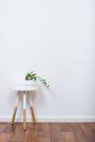 Simple decor objects, minimalist white interior. Scandinavian home interior decoration, simple decor objects and furniture, minimalist white room Royalty Free Stock Photos