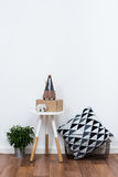 Simple decor objects, minimalist white interior Royalty Free Stock Images