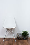Simple decor objects, minimalist white interior Stock Images