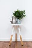 Simple decor objects, minimalist white interior. Scandinavian home interior decoration, simple decor objects and furniture, minimalist white room stock image
