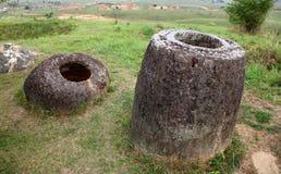 Simple des pots dans Phonsavan, Laos Images libres de droits