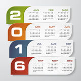 Simple design calendar 2016 year vector design template. Royalty Free Stock Images