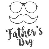 Simple design celebration father day. Vector art Royalty Free Stock Photos