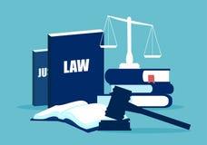 Flat design of law system elements vector illustration