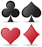 Simple design of poker symbols Royalty Free Stock Photos