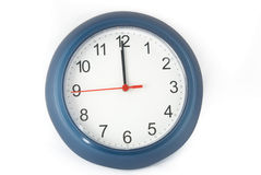 Simple designed clock Royalty Free Stock Image