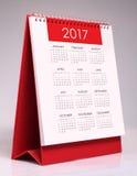 Simple desk calendar 2017 Stock Image