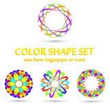 Simple determinado de la forma del color Foto de archivo libre de regalías