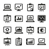 Simple Diagram and Graphs Icons Set. Vector Stock Images