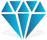 Simple diamond, jewelry sign, symbol. Precious stone, ruby icon, Royalty Free Stock Image