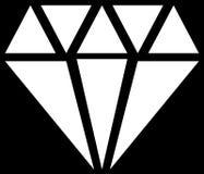 Simple diamond, jewelry sign, symbol. Precious stone, ruby icon, Stock Photos