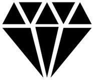 Simple diamond, jewelry sign, symbol. Precious stone, ruby icon, Royalty Free Stock Photo