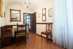 Simple dining room, interior in old house Stock Photography