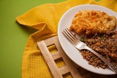 Simple dinner: buckwheat and chicken Stock Photos