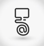 Simple at on display icon on white background. Simple at on display vector. EPS10. Royalty Free Stock Image