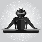 Simple DJ emblem Royalty Free Stock Image