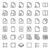 Simple document thin line icons set Stock Photo