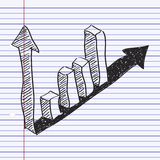 Simple doodle of a bar graph Royalty Free Stock Photo