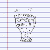 Simple doodle of a beer glass Stock Photo