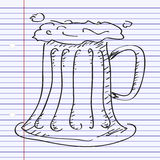 Simple doodle of a beer glass Stock Photos