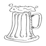 Simple doodle of a beer glass Royalty Free Stock Photography