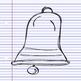 Simple doodle of a bell Stock Photos